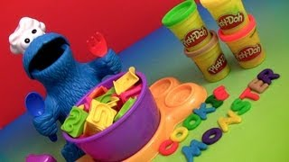 Play Doh Chef Cookie Monster Letter Lunch Learn the ABC Alphabet With Cookie Monster Play Dough