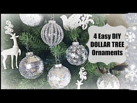 DIY DOLLAR TREE   CHRISTMAS ORNAMENTS   HOME DECOR EASY DECORATION CRAFT