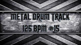 Mid Tempo Metal Drum Track 125 BPM (HQ,HD)