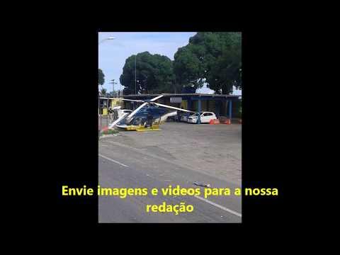 Helicóptero da Polícia Rodoviária Federal cai em Eunápolis-Ba