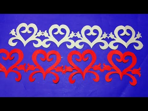 Diy Paper Border How To Make Easy Paper Cutting Border Design Step