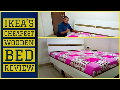 IKEA's cheapest wooden bed & mattress | Trysil & Beito| In Depth Review HINDI | IKEA Hyderabad