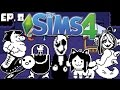 WATERFALL - The Sims 4: Undertale Theme - Ep. 8 (Create A Sim & Apartment S.d Build)