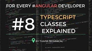 Typescript Tutorial for Beginners in Hindi #8: Classes in Typescript in Hindi