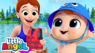 Time to Go Swimming! | Little Angel Kids Songs & Nursery Rhymes
