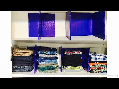 How to make shelf divider | closet organization diy from cardboard | Zero cost |