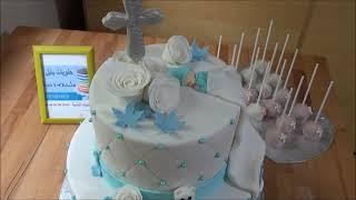 Tauftorte . Baptism Cake