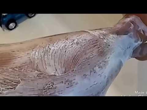 No más piernas de Oso , utiliza la mejor crema para depilar,  Veet,  en casa . .