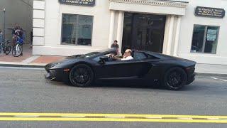 Matte Black Lamborghini Aventador Roadster At Autostrade