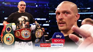 POST-FIGHT! Oleksandr Usyk reacts after beating Anthony Joshua to become world heavyweight champion