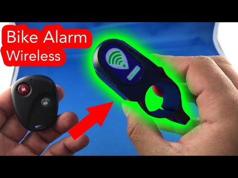 Anti Theft Bike Lock Alarm Wireless Unboxing Review from AliExpress.com haul