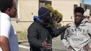 Ibn Ali Miller Breaks Up Fight Between Two Teenage Boys In Local Neighborhood