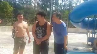Retiro dos homens comemora o batismo do Carlos