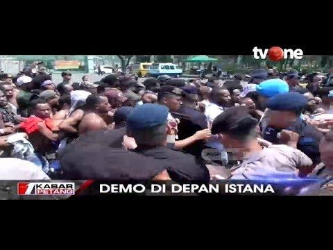 Demo Depan Istana, Mahasiswa Papua Terlibat Saling Dorong dengan Aparat