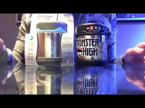 Product Review : Thermos Funtainer vs Foogo Food Jar Video