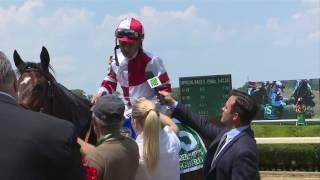 This was Mike Smith's reaction after taking the Ogden Phipps earlier today with Songbird