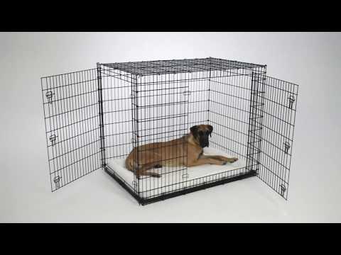 54-inch Double Door Dog Crate (SL54DD) Features Video