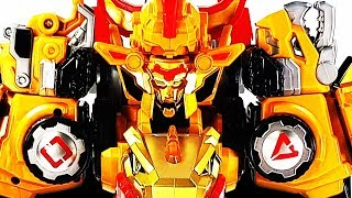 Dino Core Season 3 Ultimate D-Buster Tyranno Vs Hyper D-Saver Cerato Robot Toys Transformation