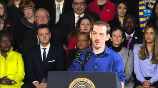 Republican Brent Brown thanks Obama for Obamacare and saving his life