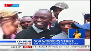 SGR Workers Strike:Workers at Naivasha section down tools,demanding for better pay