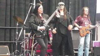 BONNIE SCOTT (female fronted ACDC Tribute) tattoo show 2017