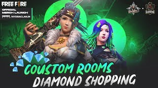 DIAMOND SHOPPING + CUSTOM ROOMS IN FREE FIRE | TOTAL GAMING + DYNAMO GAMING MEGA COLLAB