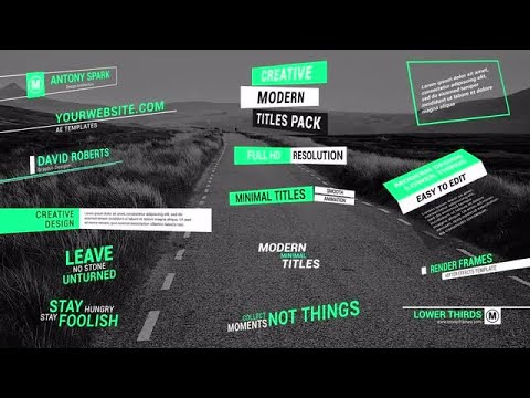 Stylish Titles & Lower Thirds After Effects Templates