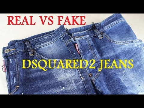 REAL VS FAKE DSQUARED2 JEANS LEGIT CHECK