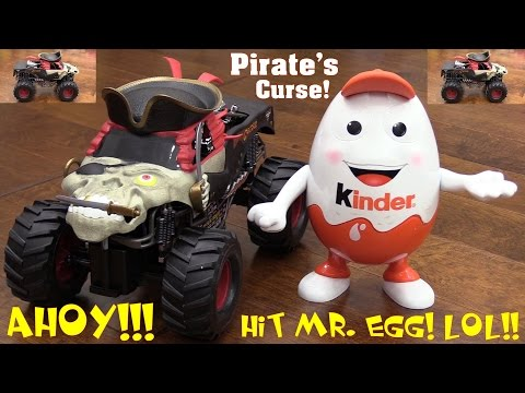 Toy Review Channel: Remote Control Toy! RC Monster Jam Truck Pirate's Curse + Sportbike Ride