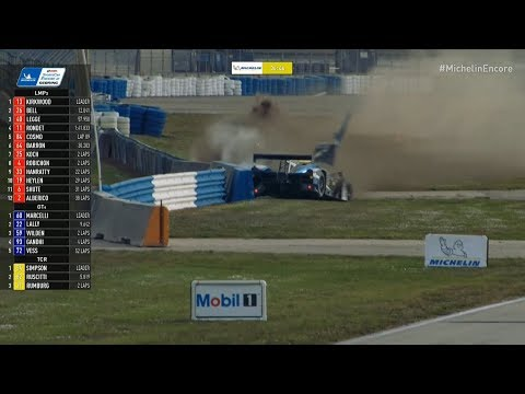 Michelin IMSA SportsCar Encore 2018. Sebring International Raceway. Crash