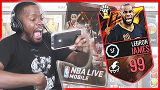 THE GRIND FOR 99 OVR CLUTCH LEBRON JAMES! - NBA Live Mobile Gameplay