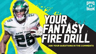 "NFL Week 9 Fantasy Football Advice | ""Your Fantasy Fire Drill"""