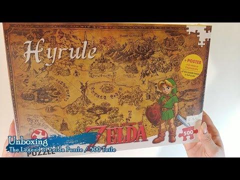 Unboxing/Timelapse The Legend of Zelda Hyrule Puzzle 500 Teile