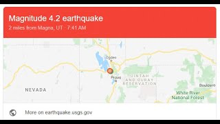Gabriel Sounds the 3rd Magna Utah Earthquake On Last Day of Passover
