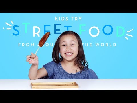 Download Kids Try Street Food from Around the World | Kids Try | HiHo Kids HD Mp4 3GP Video and MP3