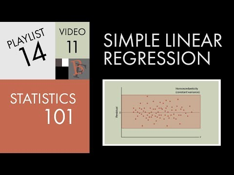 Statistics 101: Linear Regression, Residual Analysis