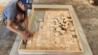 Amazing Best Design Idea Woodworking Projects - How To Building A Large Workbench With Square Blocks