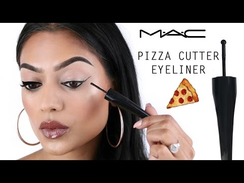 "NEW MAC ""pizza cutter"" roller wheel eyeliner! First impression & review 