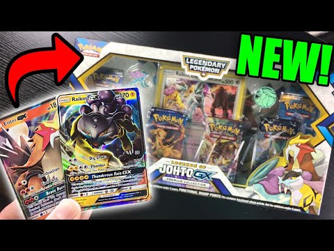 EPIC NEW LEGENDS OF JOHTO GX COLLECTION POKEMON CARDS BOX OPENING!