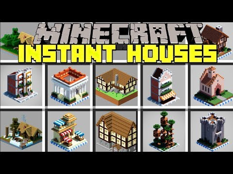 Minecraft Instant Houses Mod Instantly Spawn Giant Houses