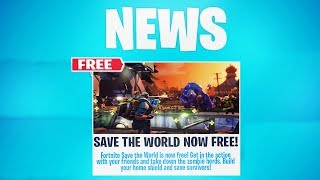 """FORTNITE """"SAVE THE WORLD FREE"""" RELEASE DATE! (SAVE THE WORLD for FREE)"""