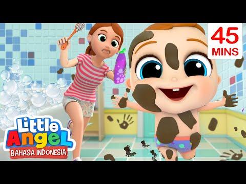 Yuk Cepat Mandi Baby John! 💦 Kartun Anak | Little Angel Bahasa Indonesia