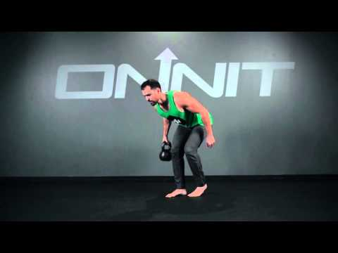 One Arm Staggered Stance Kettlebell Row