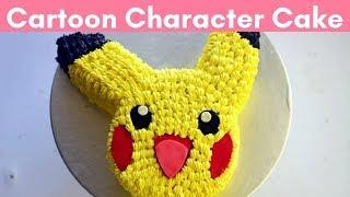Easy Pikachu Cake Tutorial - Step By Step | Cartoon Character Cake | Pokemon Cake