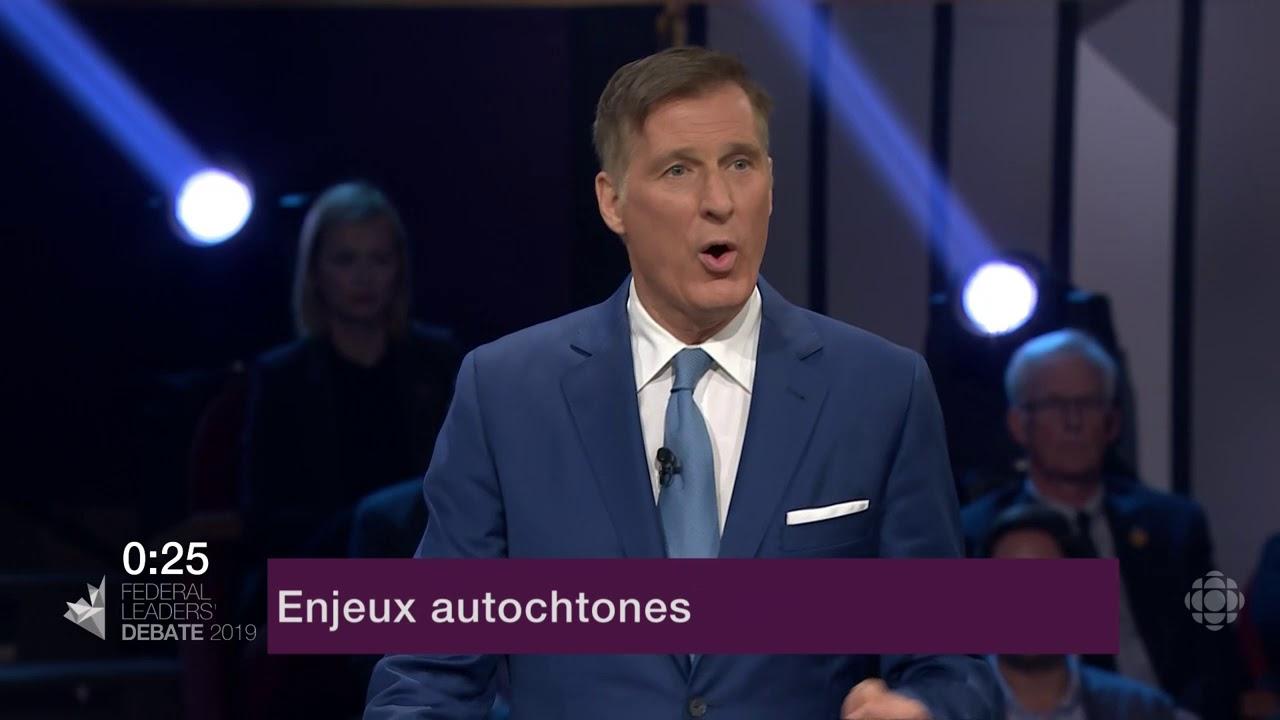 Maxime Bernier répond à la question d'un citoyen sur la réconciliation avec les Autochtones