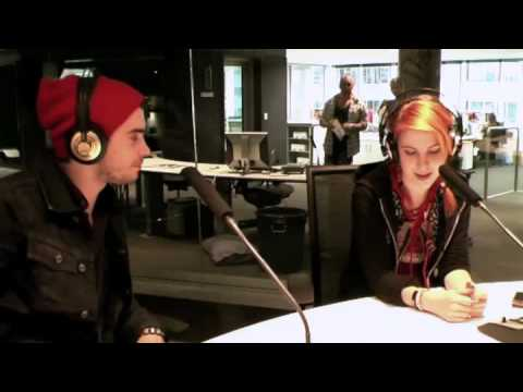 Hayley Williams and Taylor York from Paramore interviewed on Take40 Australia