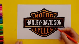 How to Draw a H-D Logo for Kids