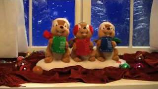 Animated Caroling Chipmunks