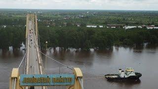 preview picture of video 'Jembatan Barito kalimantan selatan'