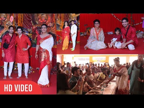Biggest Durga Puja 2018 | Kajol, Varun Dhawan, Ishita Dutta, Kiran Rao, Ayan Mukerji, Azad Khan